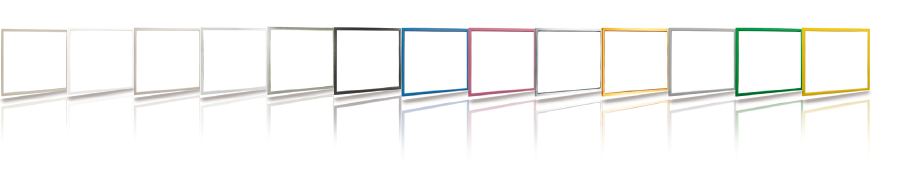Available colours of decorative interior frames